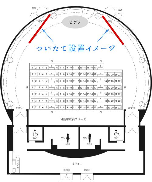 栗東さきら小ホール舞台袖