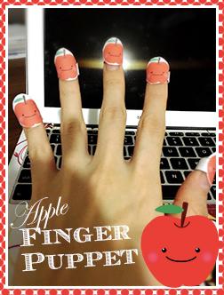 finger-puppet-apple