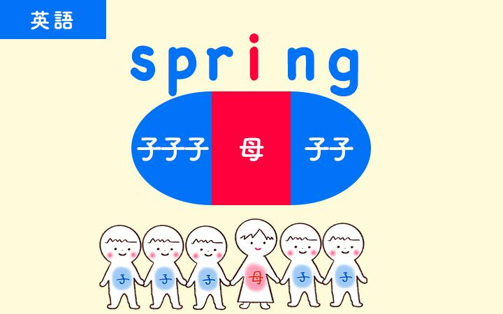 springは母音一つに子音が5つついても1音節