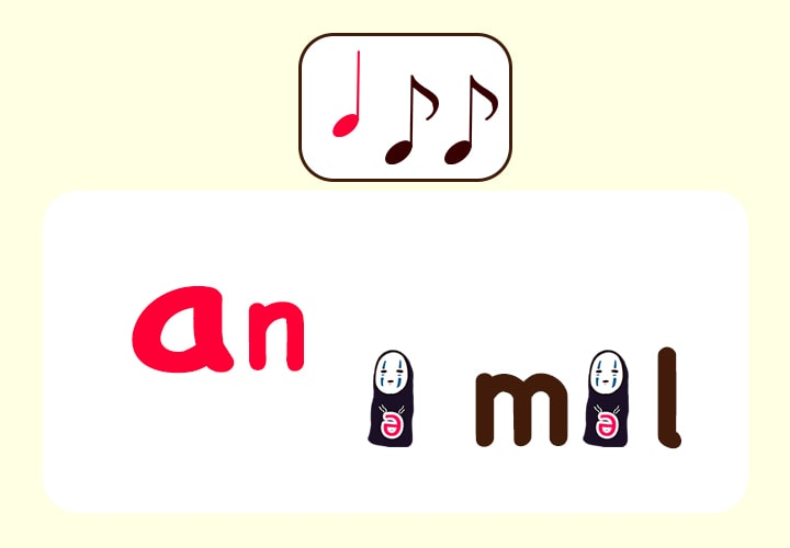 animalの発音 あいまい母音