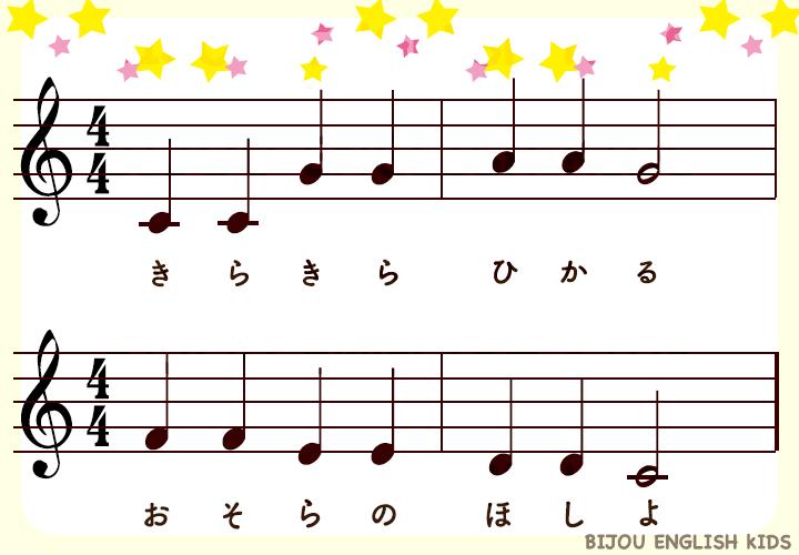 きらきらぼし楽譜サンプル