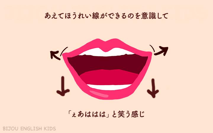 フォニックス aの口の形