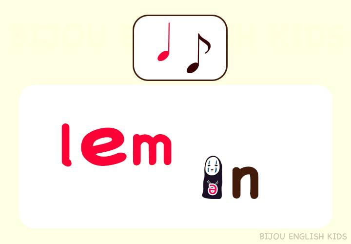 lemonの発音 あいまい母音